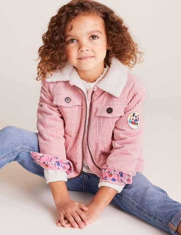 clp60453915: Cotton Cord Jacket (2-7 Yrs)
