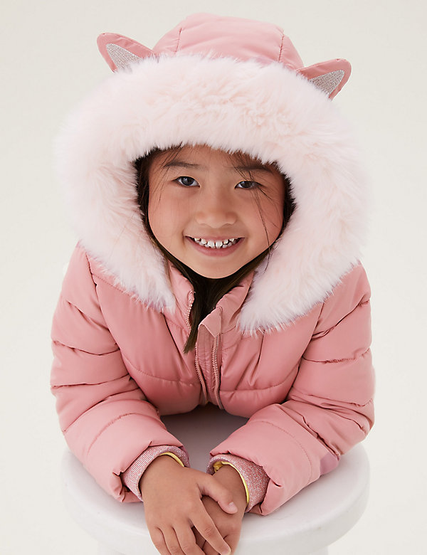 Stormwear™ Faux Fur Lined Hooded Padded Coat (2-7 Yrs)