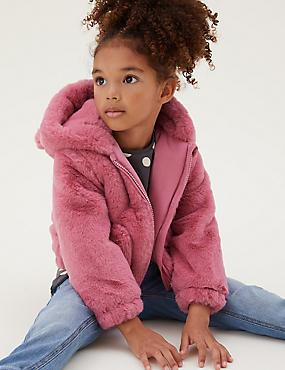 Faux Fur Hooded Jacket (2-7 Yrs)