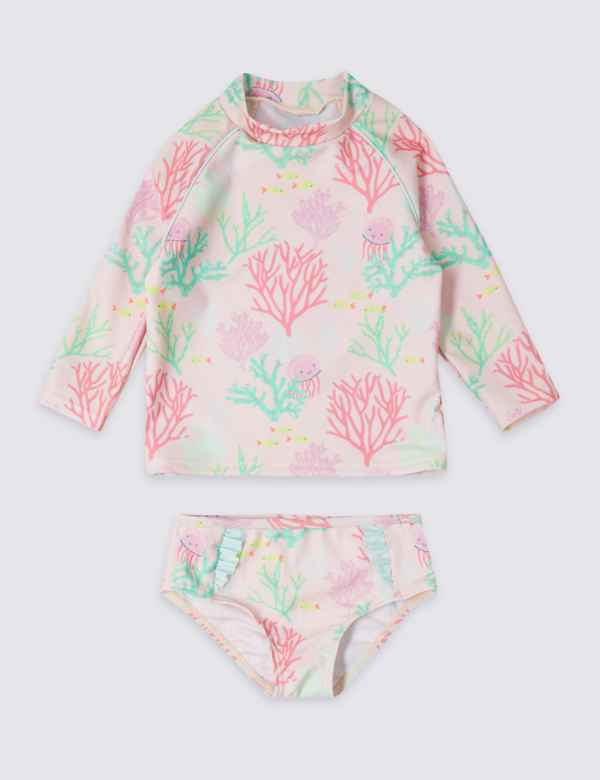 dbbb999c26cd6 2 Piece Swimsuit Set with Sun Smart UPF50+ (3 Months - 7 Years)
