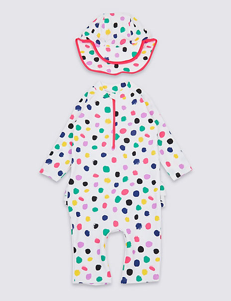 2 Piece Spotted Swimsuit Set (3 Months - 7 Years)