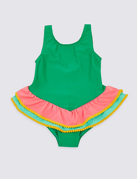 Colour Block Frill Swimsuit (3 Months - 7 Years)