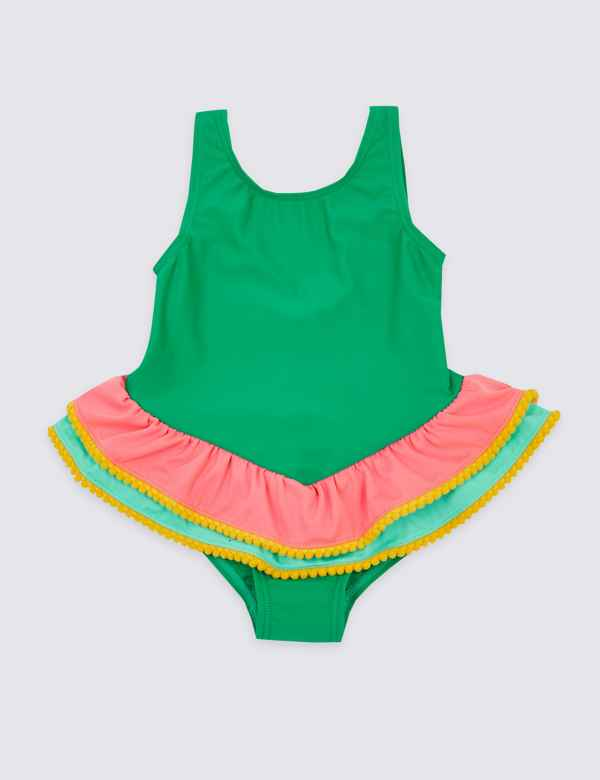 fc627d25 Colour Block Frill Swimsuit (3 Months - 7 Years)