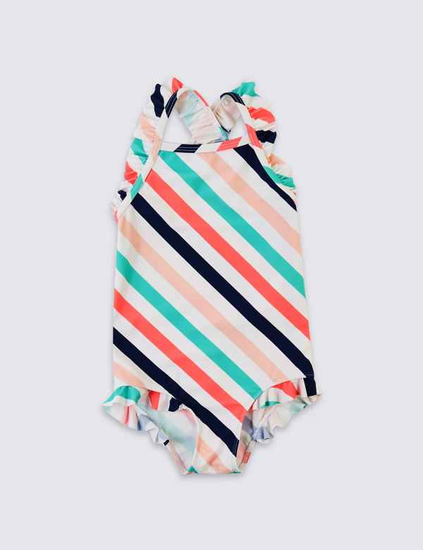 p60198967: Striped Swimsuit (3 Months - 7 Years)