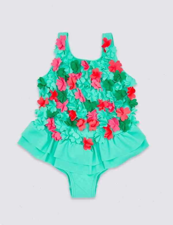 36a37d8e92 3D Flower Swimsuit (3 Months - 7 Years)