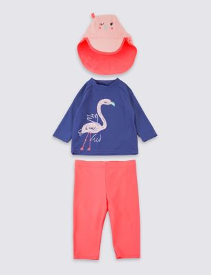 Swimsuit Set With Sun Smart UPF50+ (3 Months   7 Years)