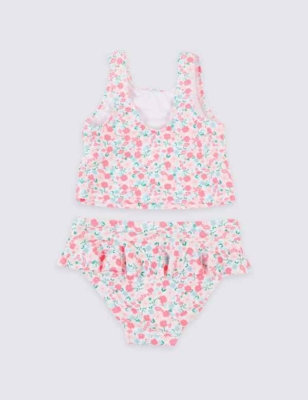 d770455ce1476 2 Piece Ditsy Tankini Set (3 Months - 7 Years)