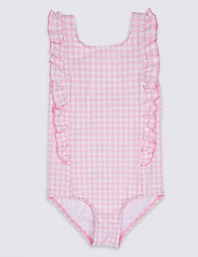 Checked Frill Swimsuit (3 Months - 7 Years)