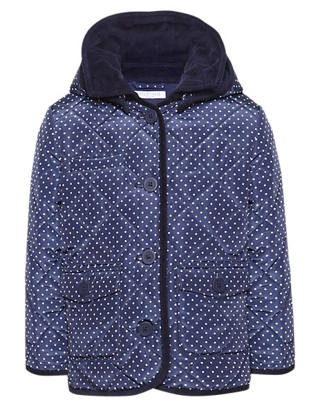 Polka Dot Quilted Coat with Stormwear™ (1-7 Years)