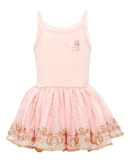 The Royal Ballet™ Cotton Rich Girls Dress (1-7 Years)