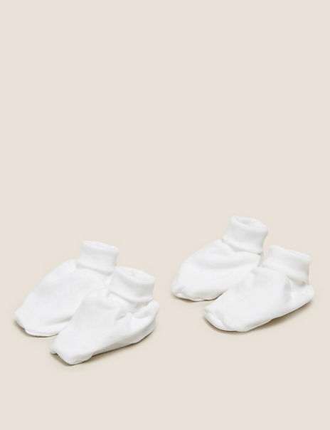 2 Pack Organic Cotton Booties