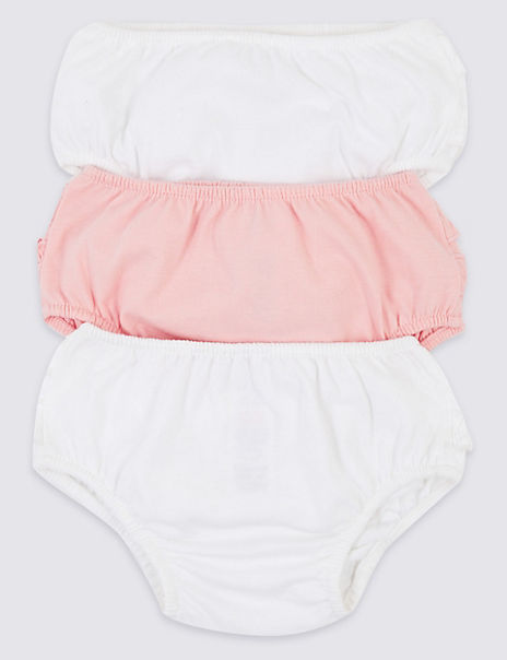 3 Pack Organic Cotton Frill Knickers