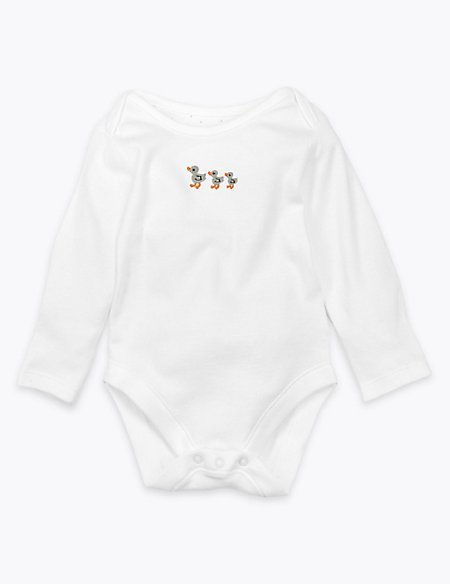 Organic Cotton Duck Embroidered Bodysuit