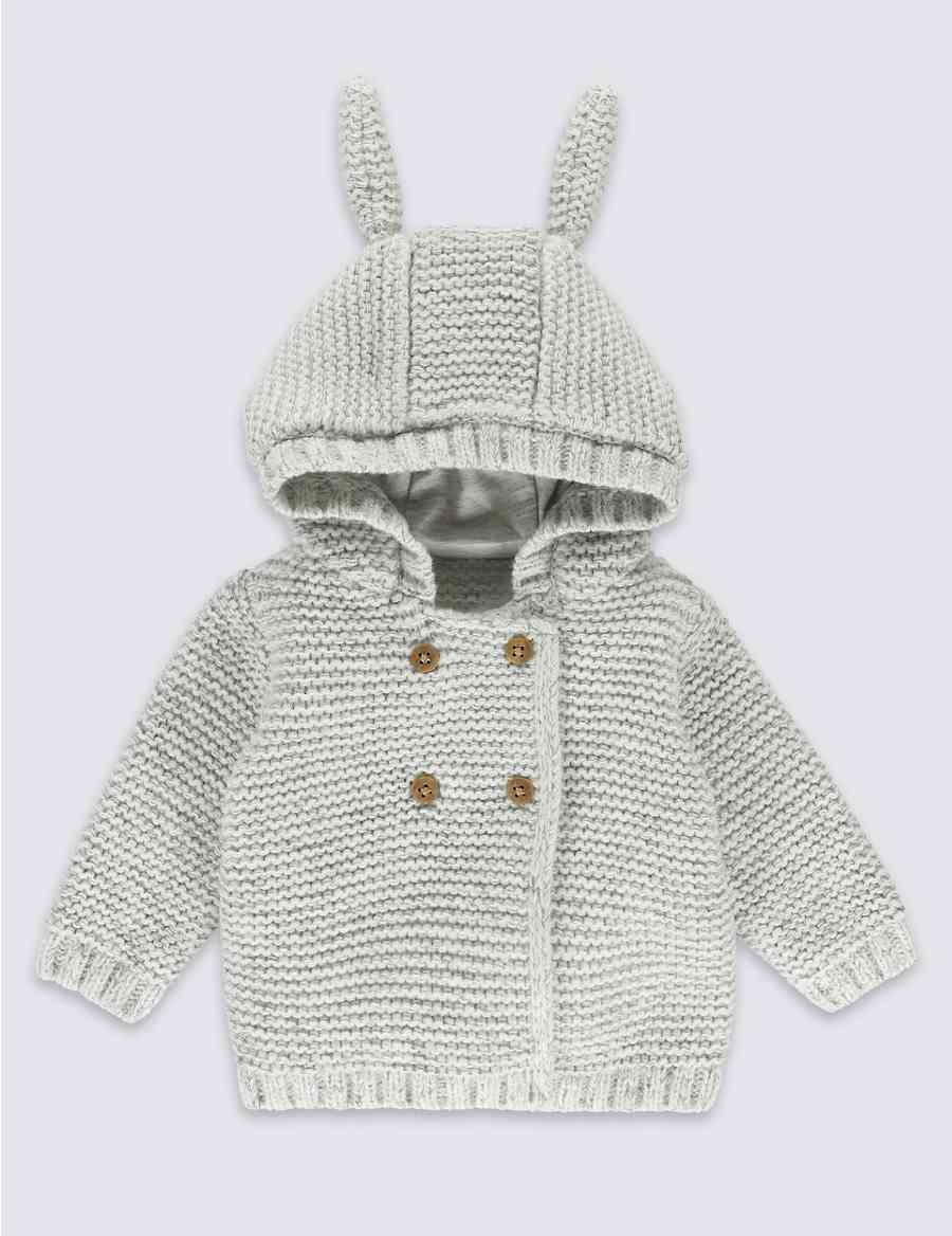 3d1b519d8 Chunky Knitted Cardigan with Ears