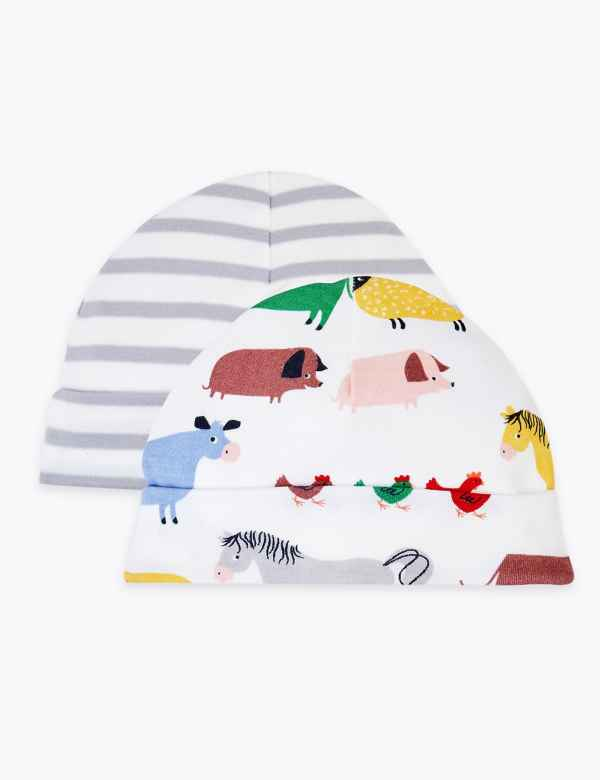 2aee4627b3ccc 2 Pack Dreamskin® Pure Cotton Farmyard Hats