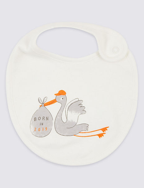 Organic Cotton Born In 2019 Bib