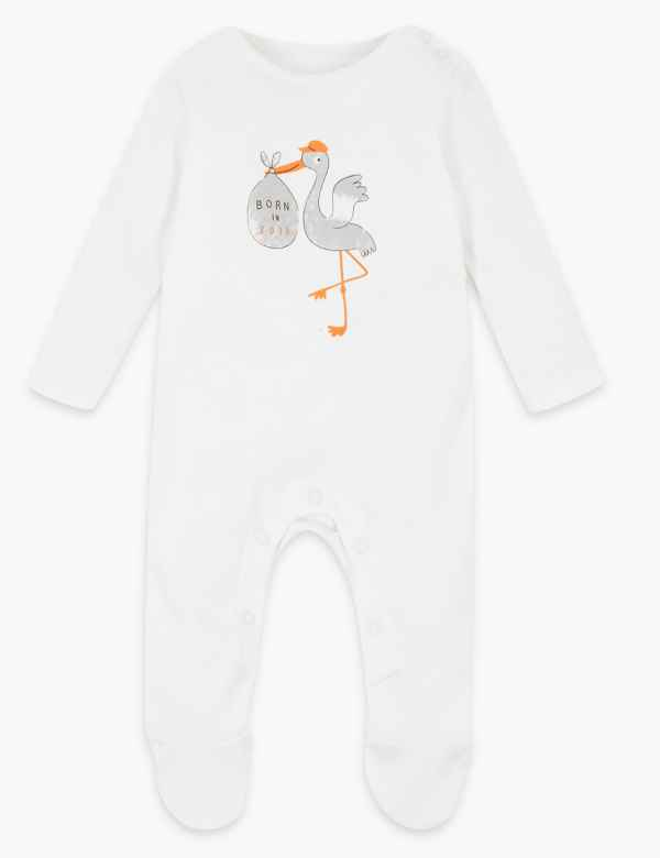 38c6ad93b Organic Cotton Born In 2019 Sleepsuit