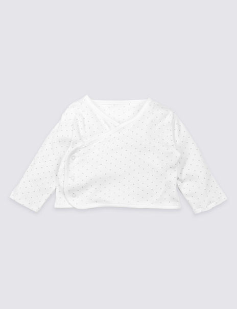 Organic Cotton Spotted Jersey Cover-Up Top