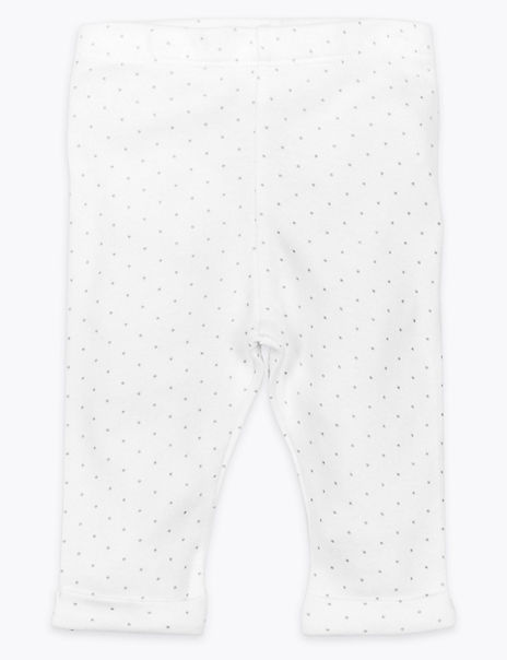 Organic Cotton Spotted Leggings