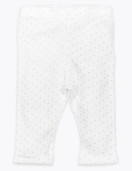Organic Cotton Spotted Leggings
