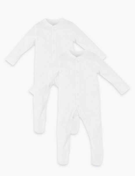 2 Pack Dreamskin® Pure Cotton Sleepsuits