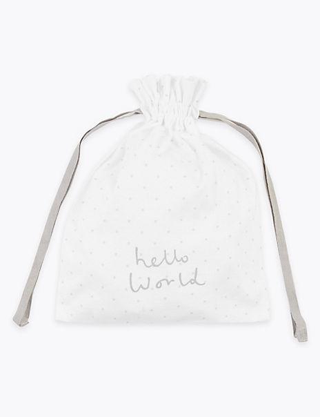 Organic Cotton Hello World Gift Bag