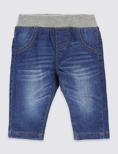 Cotton Pull On Denim Jeans with Stretch