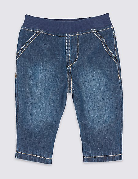 Pure Cotton Pull-on Jeans