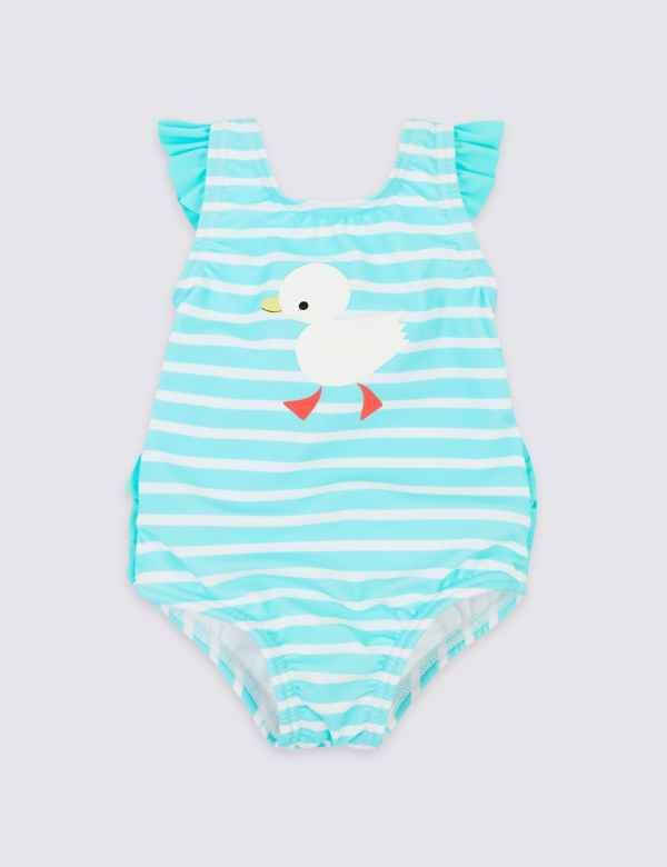016f8876a4 Striped Swimsuit with Sun Smart UPF50+