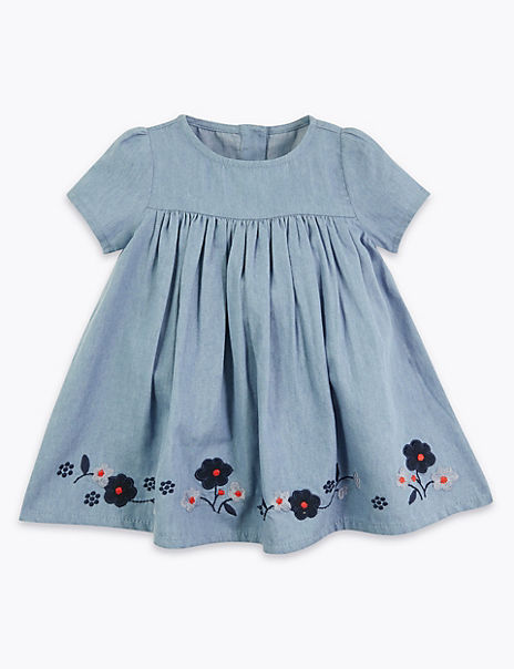 Cotton Floral Dress (0-3 Years)