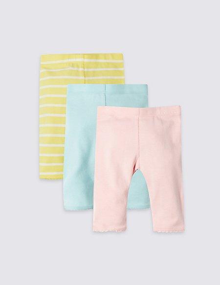 3 Pack Organic Cotton Leggings