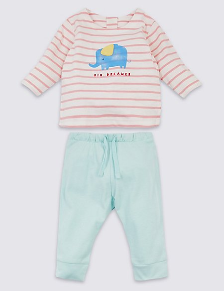 2 Piece Organic Cotton Top & Bottom Outfit