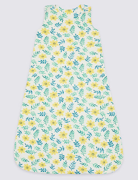 Organic Cotton 1.5 Tog Floral Sleeping Bag