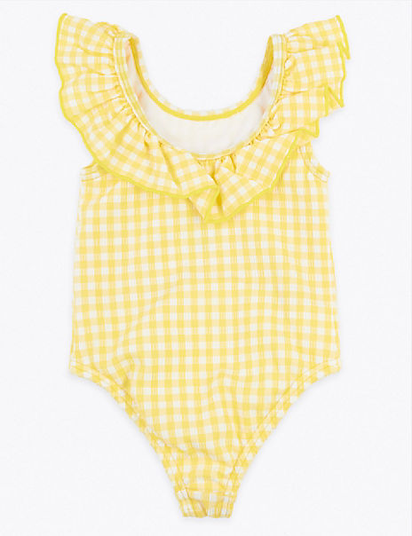 Gingham Frill Swimsuit