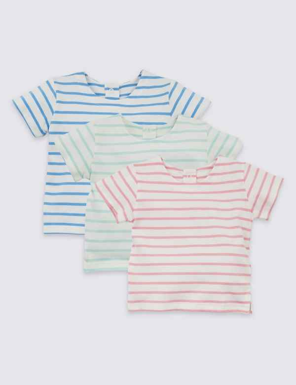 f1ff061cfc4 3 Pack Organic Cotton Striped T-Shirts