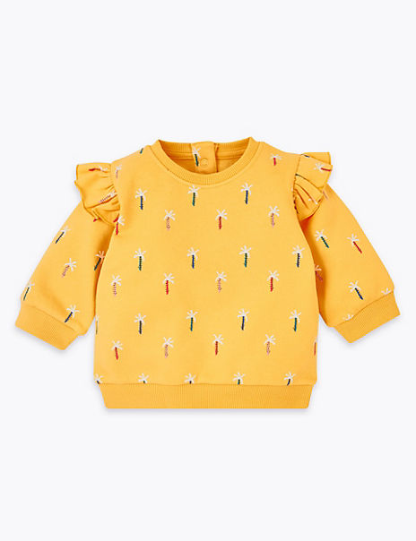Cotton Rich Palm Tree Sweatshirt (0-3 Years)