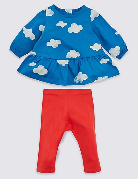 2 Piece Cloud Top & Leggings Outfit