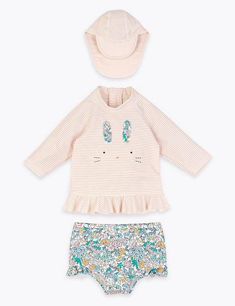 3 Piece Bunny Swim Set