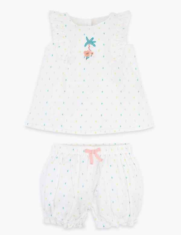 Turquoise// White Stripes And Dots Romper 6