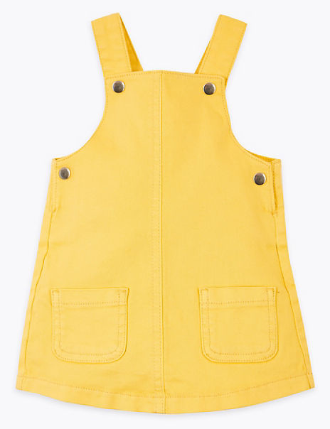 Coloured Denim Pinafore (0 -36 Mths)