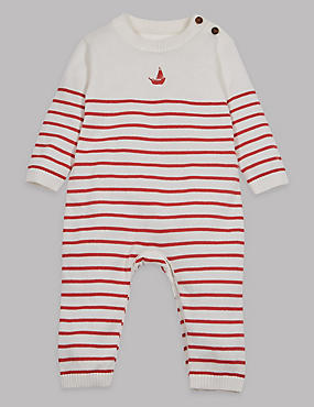 Striped Pure Cotton All in One
