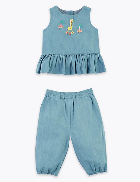 2 Piece Cotton Outfit (0-3 Years)