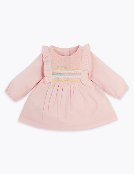 Cotton Rich Frill Woven Top (0-3 Years)