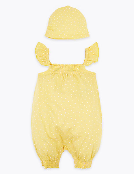 2 Piece Cotton Rich Romper Outfit (0-3 Years)