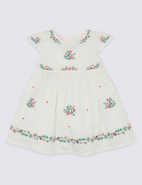 Floral Print Pure Cotton Dress