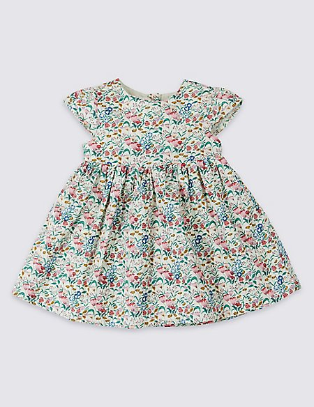 Pure Cotton Floral Print Dress
