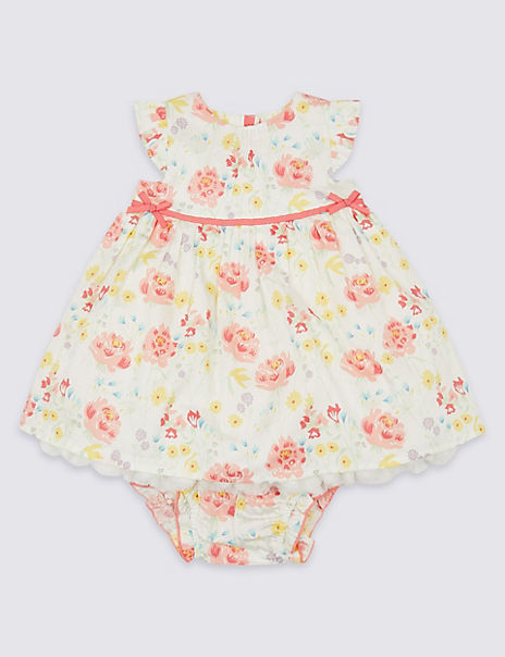 2 Piece Floral Dress with Shorts