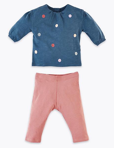 Jersey Pom Pom Top & Bottom Outfit