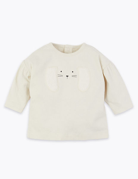 Cotton Bunny Print Top