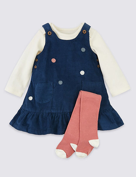 3 Piece Cotton Polka Dot Outfit